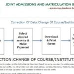 JAMB change of course and institution portal