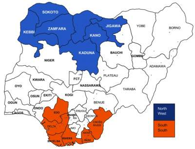 South South States In Nigeria